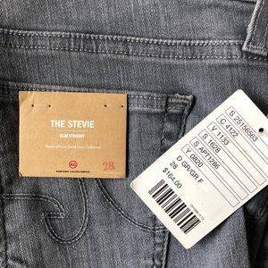 AG Stevie Slim Straight Jean Gray Wash